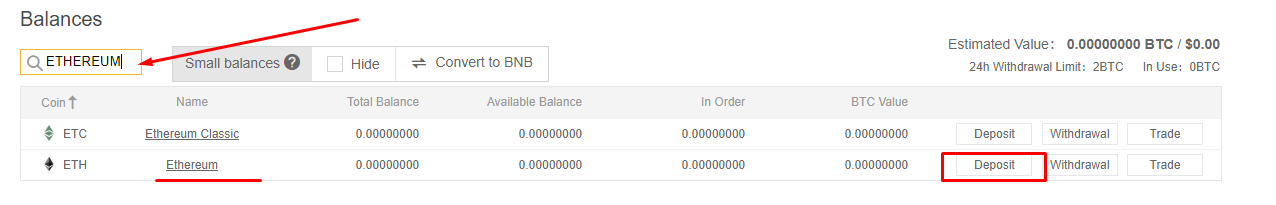 How to deposit cryptocurrency on Binance