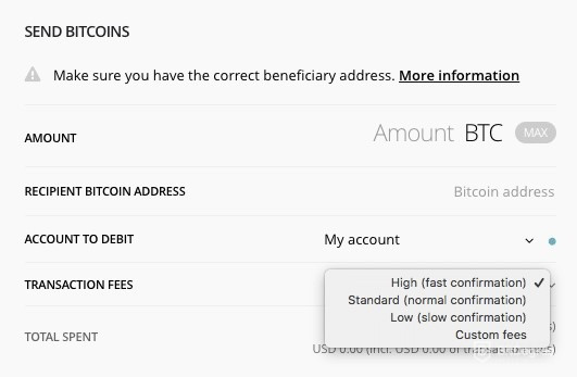 How to end bitcoins on Ledger wallet