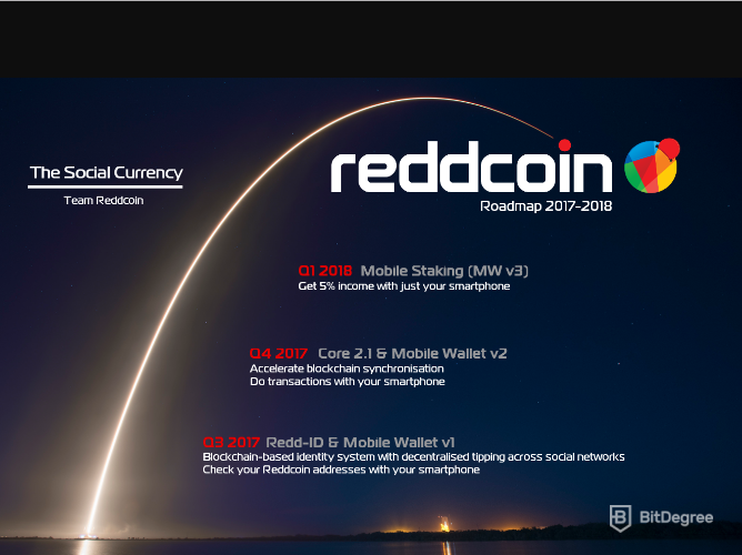 Reddcoin Roadmap 2017-2018