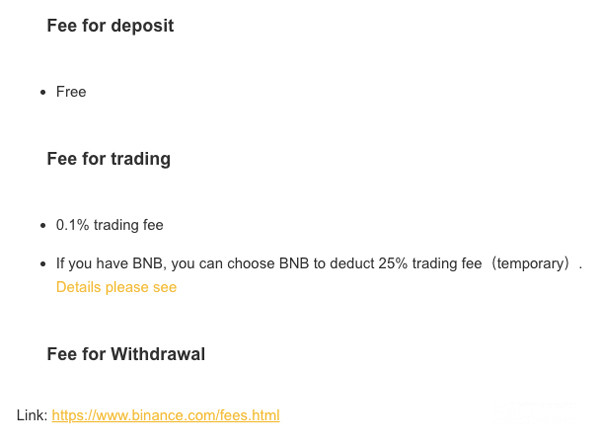 Binance vs Coinbase Binance Fees