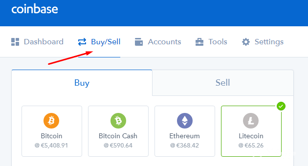 buy litecoin with credit card on coinbase