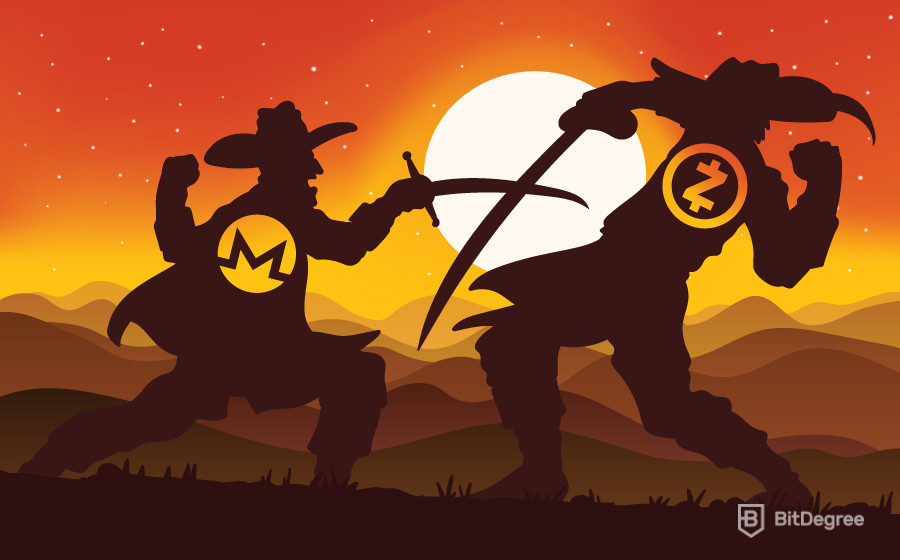 Sword fight - zcash vs monero