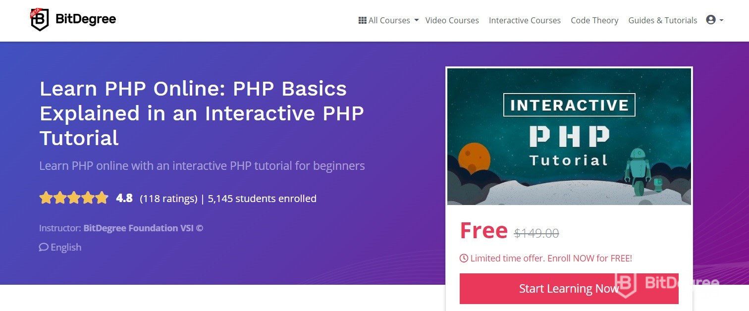 learn php online