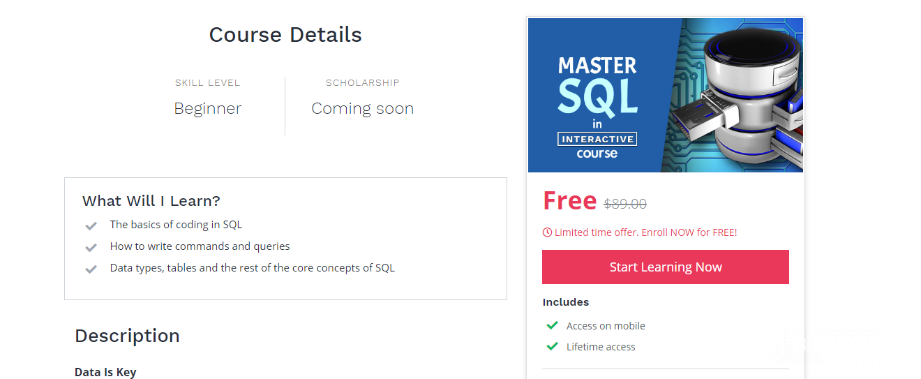 sql for beginners - master sql course