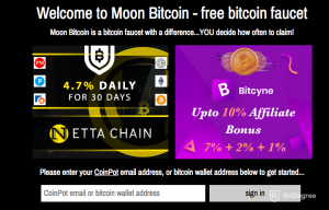 Moon Coin - highest paying bitcoin faucet