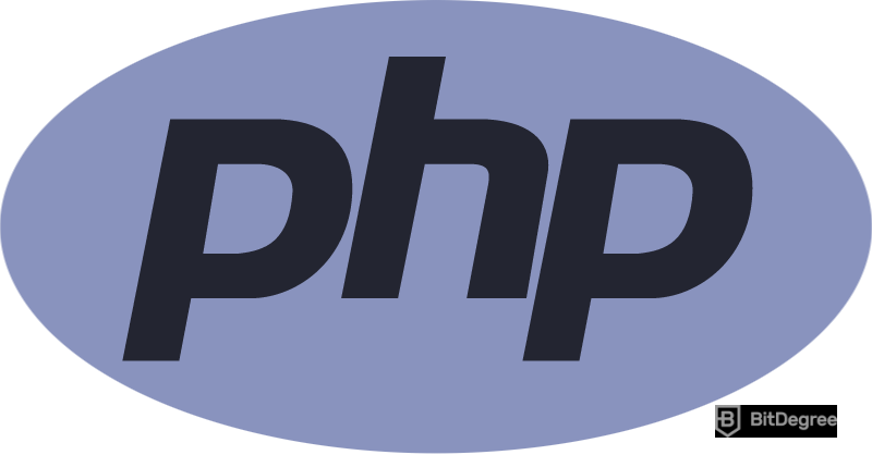 What is a back end developer - PHP logo