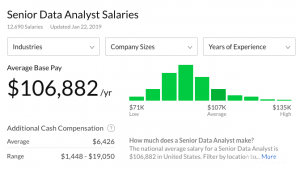 senior data analyst salary