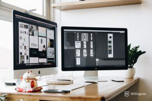 how to become a graphic designer - work desk