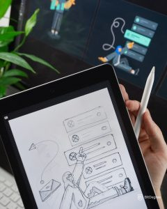 Creative ideas on tablet