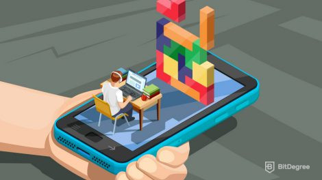 Person developing mobile games
