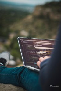 studying cybersecurity courses in nature