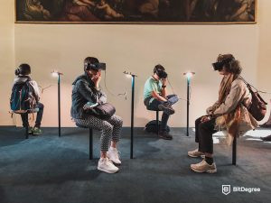 Social gathering of virtual reality