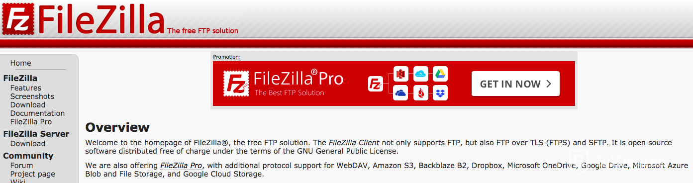 Best FTP Client: Filezilla