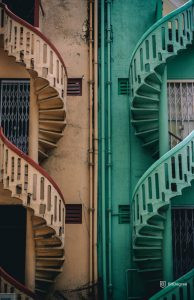 two color stairs