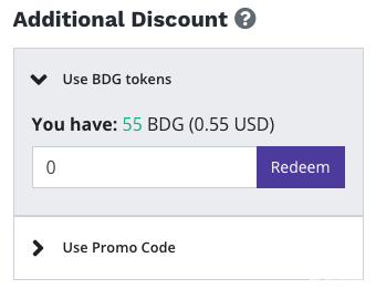 how to use bitdegree tokens for discount